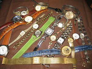 mixed lot Watches,Mens & Womens   Seiko, Gruen, Acqua,Geneva, Guess