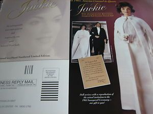 Franklin Mint Jacqueline JACKIE KENNEDY Doll Ad INAUGURAL BALL