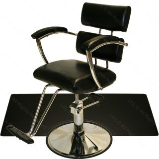 Sturdy Chrome Hydraulic Barber Chair Styling Hair Mat Beauty Spa Salon