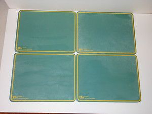 Vintage Ideal School Supply Green w Yellow Trim Chalkboards Teaching 1