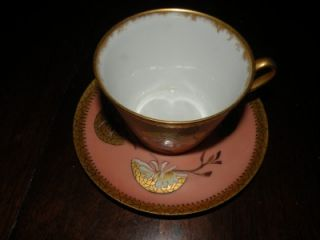 Gorgeous Antique Oversized Breakfast Limoges Depose Porcelain Cup and