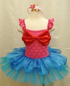 Children Girls Birthday Party Costume Ballet Tutu Dress Xmas Ariel
