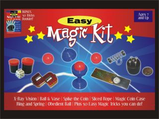 Easy Magic Kit Set 50 Tricks Book Kids Beginner Magician Gift Toy Ball