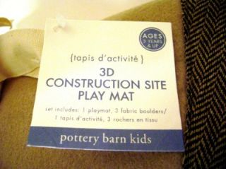 Pottery Barn Kids 3D Contruction Site Play Mat New