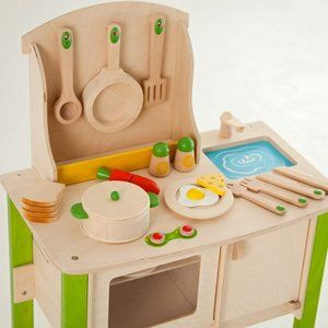 Educo Wooden Kitchen Pretend Play Kids Pre School Play Food Pizza