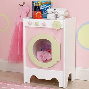 Pastel Pretend Play Kids Wood Washer Dryer Combo New
