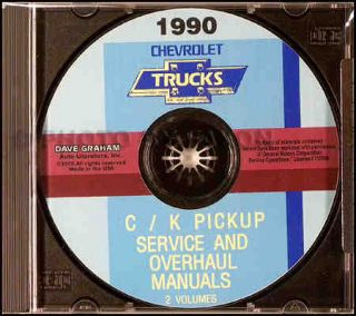 1990 CHEVROLET C & K PICKUP TRUCK REPAIR SHOP MANUAL CD 1500 2500 3500