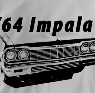 Chevy Impala 1964 Classic Chevrolet T Shirt Large Gray