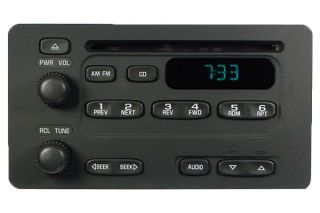 00 01 02 Chevrolet Express GMC Savana 1500 2500 3500 Radio CD Disc
