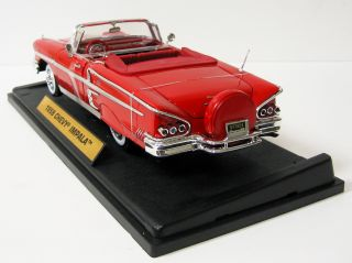 1958 Chevrolet Impala Diecast Model Car   Red 118 Scale Motormax