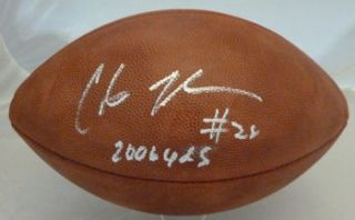 Chris Johnson Autographed Official NFL Football Tennessee Titans w