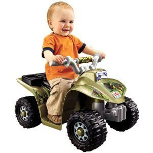 Toddler Power Wheels Camo 4 Wheeler Quad Kids Battery Camouflage Ride