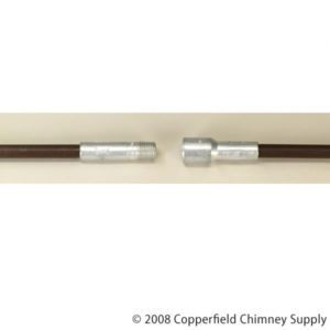 Chimney 23602 Light Duty Fiberglass Chimney Cleaning Rod 3 Brown 1 4