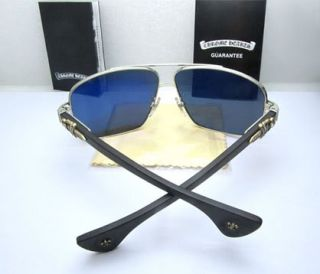 New Chrome Hearts Moorehead MBK Web Sunglasses Silver Frame Eye Care
