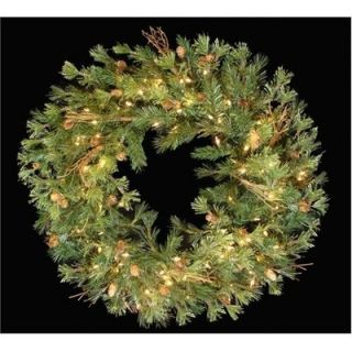 Pine 30 Pre Lit Artificial Christmas Wreath Clear Lights