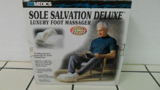 New Homedics Sole Salvation Deluxe Luxury Foot Massager with Heat