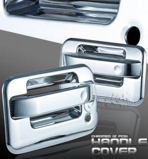 2004 2011 FORD F150 PICKUP ALL CHROME FRONT DOOR HANDLE COVERS PAIR