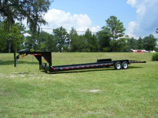 32 double car hauler equipment trailer gooseneck golf cart 14k