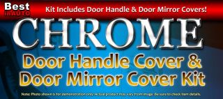 Chrome Door Handle Mirror Cover Trim Kit No PSNGR Keyhole 4DR Double