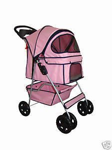 BestPet 4 Wheels Pet Dog Cat Stroller 18 Color Choices Free Rain Cover