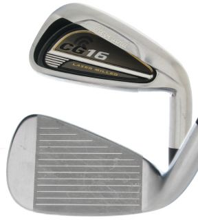 CLEVELAND CG16 SATIN CHROME MENS IRONS 4 PW (7PC) TRACTION 85 STEEL
