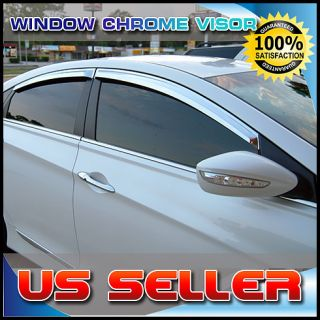 Chrome Window Vent Visors Rain Guards Sun Shield fit HYUNDAI SONATA