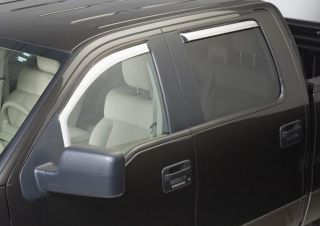04 08 Ford F150 Chrome Window Visors Rain Guards Shield