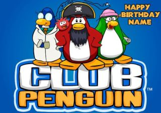 Club Penguin Edible Image Cake Topper Icing Decoration
