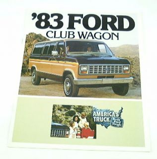 1983 83 Ford Club Wagon Van Brochure E150 E250 E350 XLT