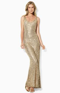 Lauren Ralph Lauren Sleeveless Sequin Gown