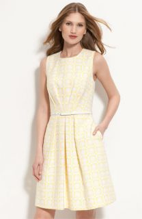 Trina Turk Princess Belted Pleated Dress