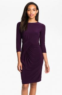 Adrianna Papell Asymmetrically Ruched Jersey Dress
