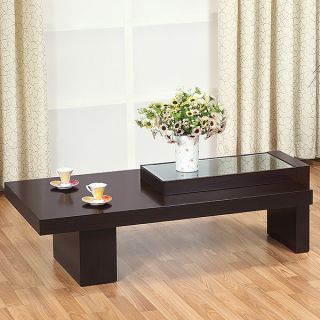 Creek Modern Glass Top Coffee Table