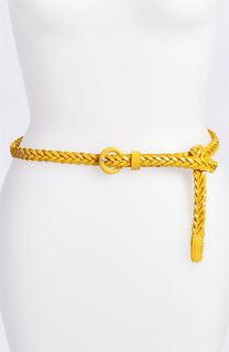 Tarnish Skinny Braided Leather Belt