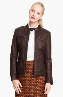 MICHAEL Michael Kors Leather Scuba Jacket (Petite)