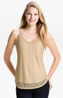 Lucky Brand Gilded Lace Tank