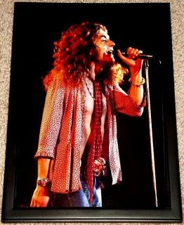 Robert Plant LED Zeppelin Live Framed 1970s Portrait
