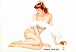 Alberto Vargas Pin Up Sexy Varga Girl Art Postcard 23