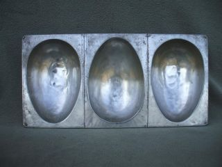 Vintage 20 by 10 Commercial? ECKO Bread Cake Baking Pan 3 Egg Shaped