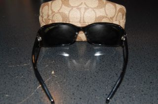 Coach Sunglass with Case Bronwen S829 Black with Silver Tone Accents