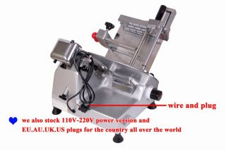 COMMERCIAL ELECTRIC SEMI AUTOMATIC MEAT SLICER 10 BLADE BRAND NEW b9