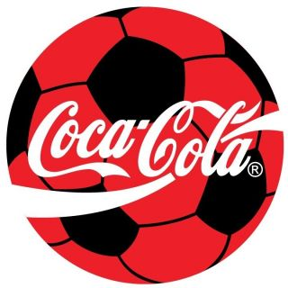 Coca Cola Soccer Ball Sticker Decal 12 Round