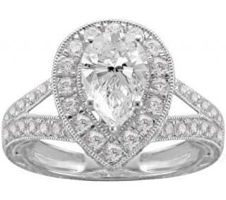 Epiphany Diamonique 2.25 ct tw Pear Shaped Ring —