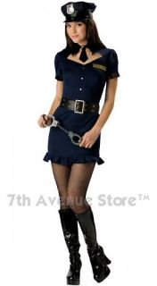 Fashion Police Officer Costume Cop Girl Teen Halloween