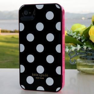 Contour Design Kate Spade Hard White Polka Dot Case Cover For Iphone4
