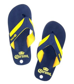 CORONA BEER BLUE YELLOW SPORT FLIP FLOPS SANDALS NEW MENS 8 9