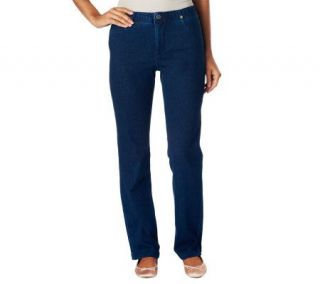 Isaac Mizrahi Live Icon Grace Straight Leg Denim Jeans   A228343