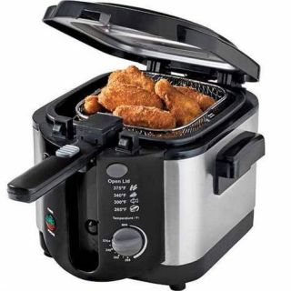 New Crofton Electric Deep Fryer with Cool Touch Handle
