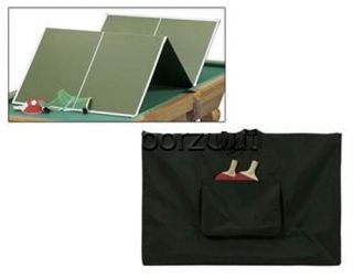 Portable Table Tennis Ping Pong Table Top Conversion w Case