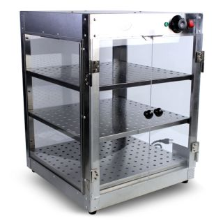 Commercial Food Warmer Stainless Steel Countertop 18x18x24 Pizza